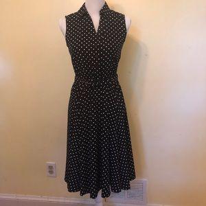 Alfani Polka Dot Belted Dress, Size 2